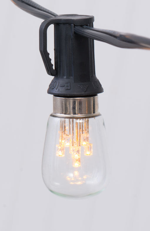 Replacement Bulb, S8 Firework Constellation LED, E12 Base, 0.5 Watts, Warm White