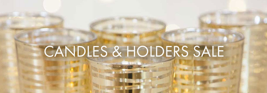Candle & Holder Sale