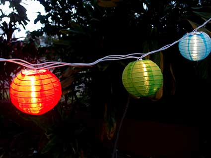 Round Nylon Multi Color String Lights