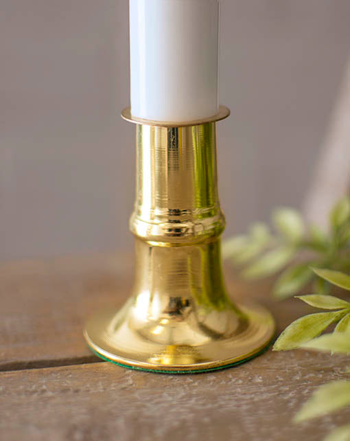Window Candle Lamp with Brass Base, 9 inch, Battery Operated