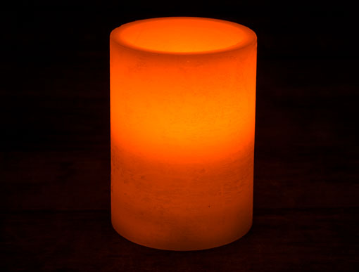 Real Wax LED Pillar Candle