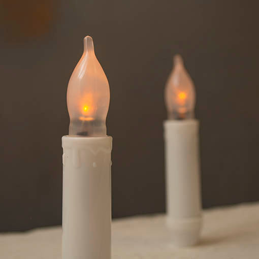 LED Candle Sticks, Flickering Amber, Battery Operated, 4.5 in., 2 Pack