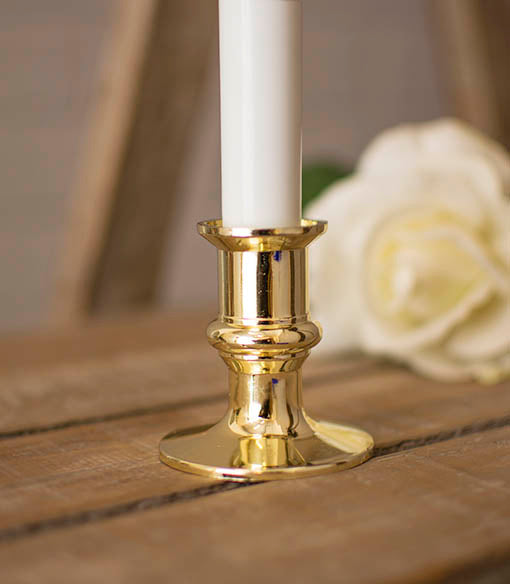 Window Candle Lamp with Gold Colored Base, 8.5 inch, Battery Operated
