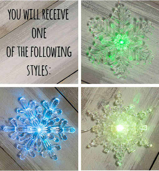 LED Lighted Snowflake Garland, Color Changing