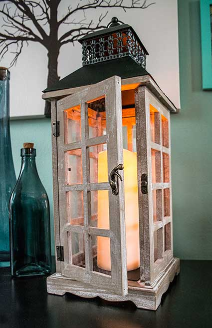 Candle Lantern with Timer Function