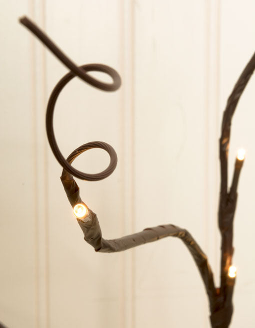 Lighted Brown Branch, Battery Op LEDs, Bendable, 39 inch, Warm White
