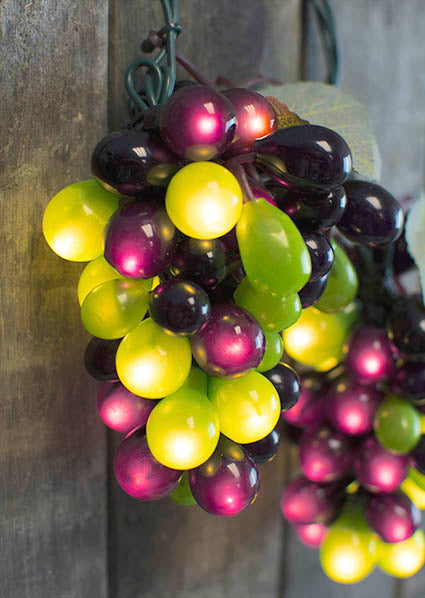 Green and Red Grape Vine String Lights