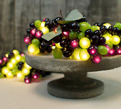 Grape String Lights, Red and Green Bunches