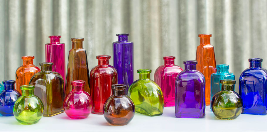 Shop For Colored Glass Bottles At Lights For All Occasions Candle Lights Battery Operated