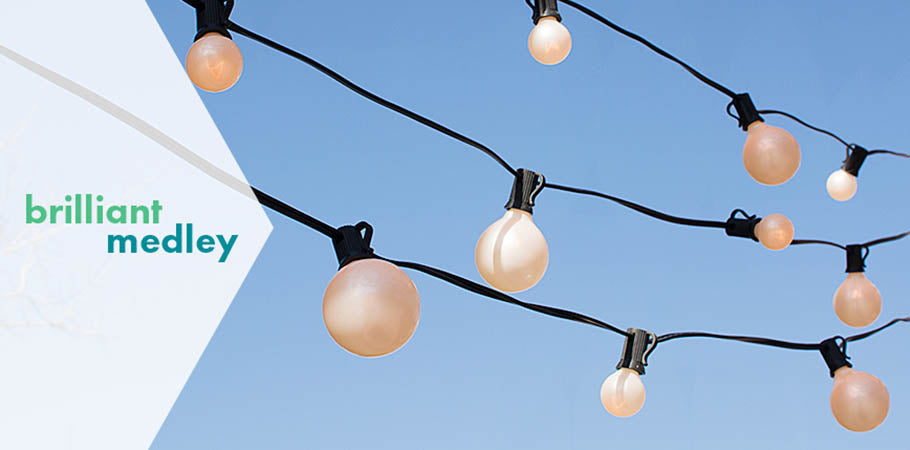 Duets Globe String Lights: Alternating Sizes