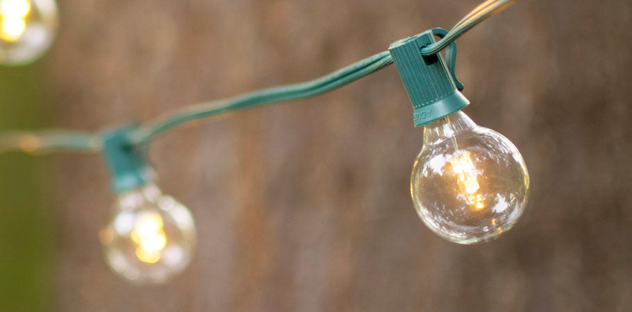 Green Wire LED Globe String Lights