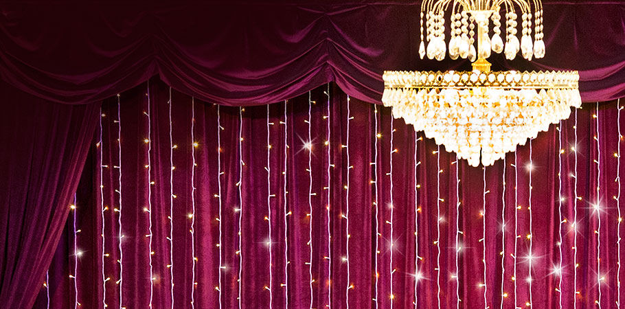 Light the Night and Set the Mood with Commercial Grade Full Length Curtain Lights!