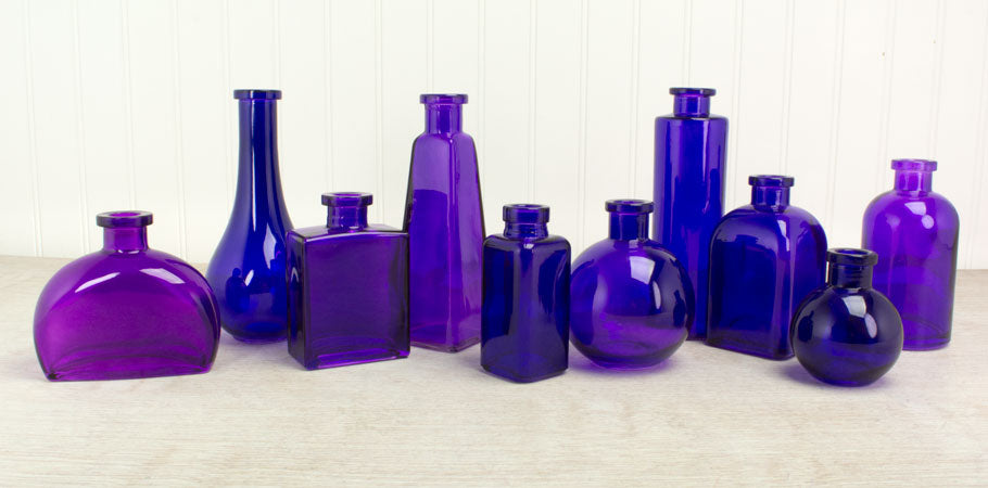 Shop For Violet Purple Glass Bottles At Lights For All Occasions
