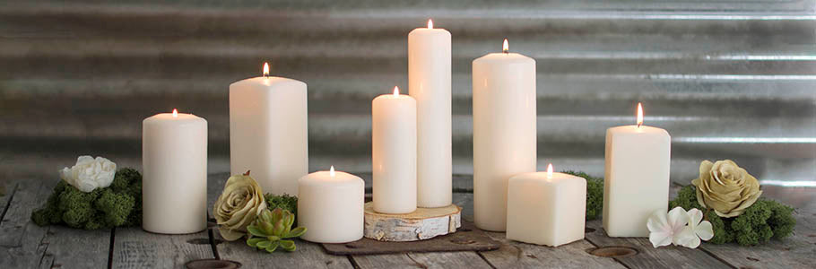 Ivory Candle Collection, Patrician, Candle Artisans