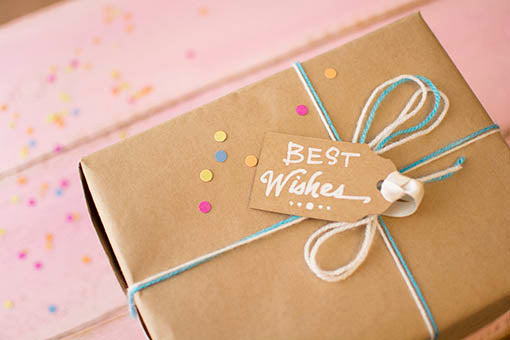 Brown Paper Gift Labels, Punched Card Stock