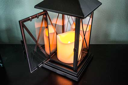 Candle Lantern with Pillar Candle