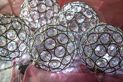 Cool White Crystal Ball String Lights