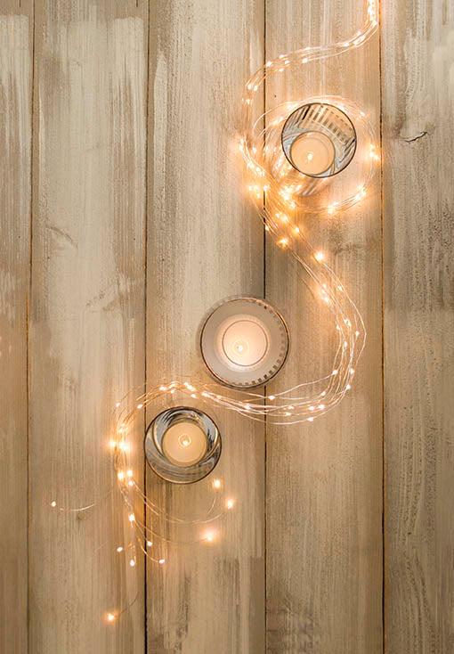 Combine with a stylish mix of candle holders and fairy lights for a magical centerpiece! All items sold separately.
