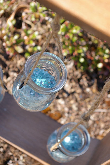 Glass Jars with Wooden Frame