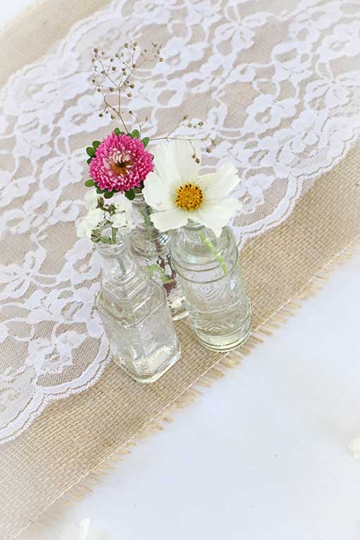 White Vintage Lace Runner