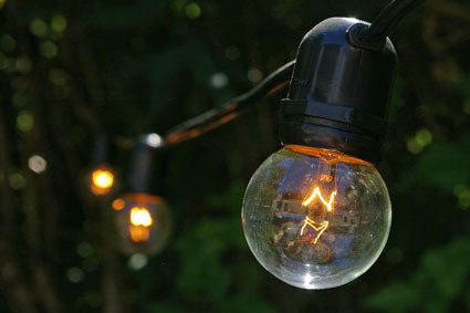 commercial grade black wire globe lights
