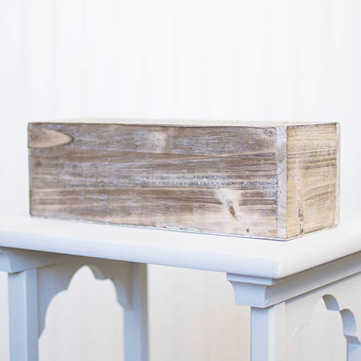 12x4x4 inch square Whitewashed Wooden Planter