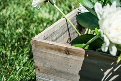 7 Inch Cube Rustic Barn Wood Planter