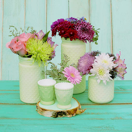 2.5in. Pastel Green Heirloom Tea Light Holder