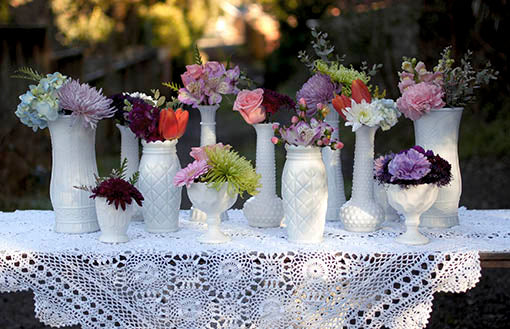 Heirloom Milk Glass Collection