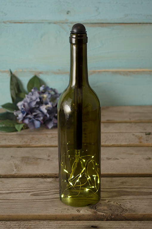 Feed our unique wine bottle string light adaptor into the neck of any standard size wine bottle for an instant lighting upgrade!