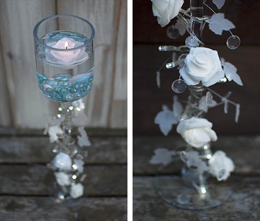 Clear Glass Candle Risers, Set of 3