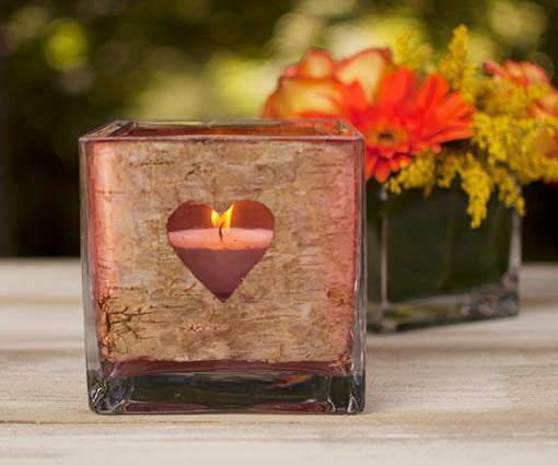 Glass Cube Vase, 5 in., with 4 in. Cube Vase