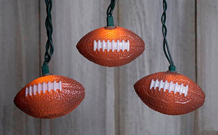 Football Christmas String Lights