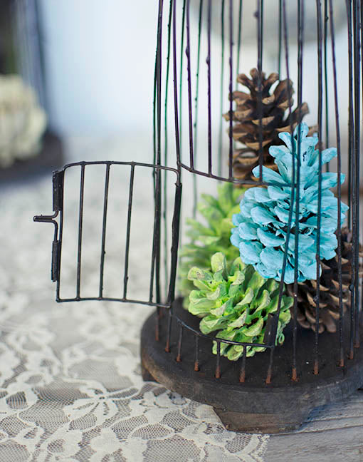 Small Vintage Wire Birdcage, 13 in.