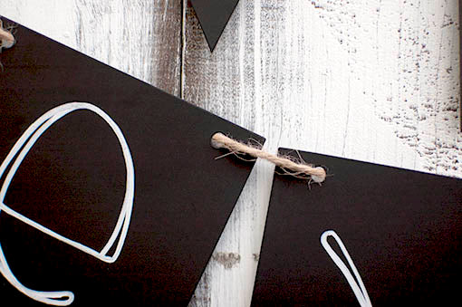 Black Paper Swallowtail Bunting with Twine