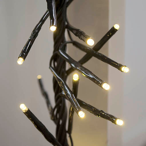 Commercial LED Cluster Garland, 4 foot Black Wire