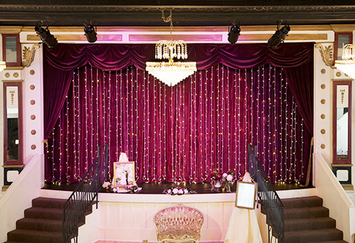Your gala events are made more spectacular with our full length commercial grade warm white LED curtain lights!