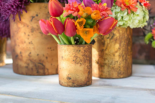 Pair with our 6 inch and 8 inch matte gold vases to create variety and dimension in the table decor.