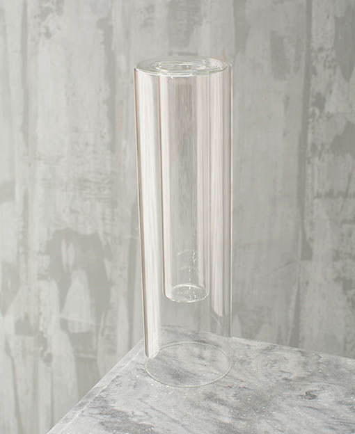 Round Glass Vase, Clear Double Wall Cylinder, 3 x 10 inches