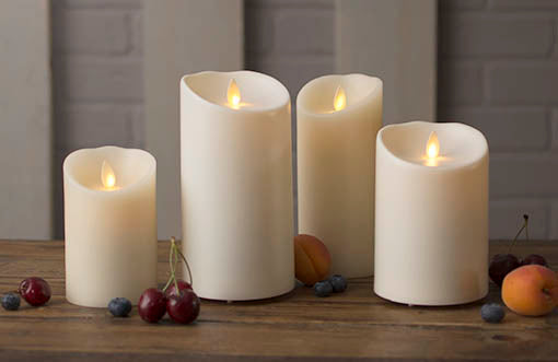 Add some variety to your wedding, home, or restaurant with our Luminara candle collection!