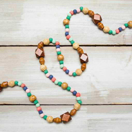 Sundry bead shapes, sizes and colors define this whimsical strand that's perfect for wedding centerpieces, mantel garnish, photo booth backdrops or dorm decor!