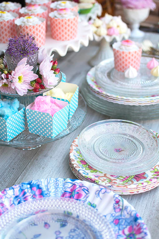 Detail your dining space with color and texture by combining the clear glass fruit plates with our melamine plates and cake stands.