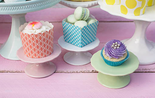 Use our mint green and white cupcake stands for a quirky centerpiece at your wedding or bakery!