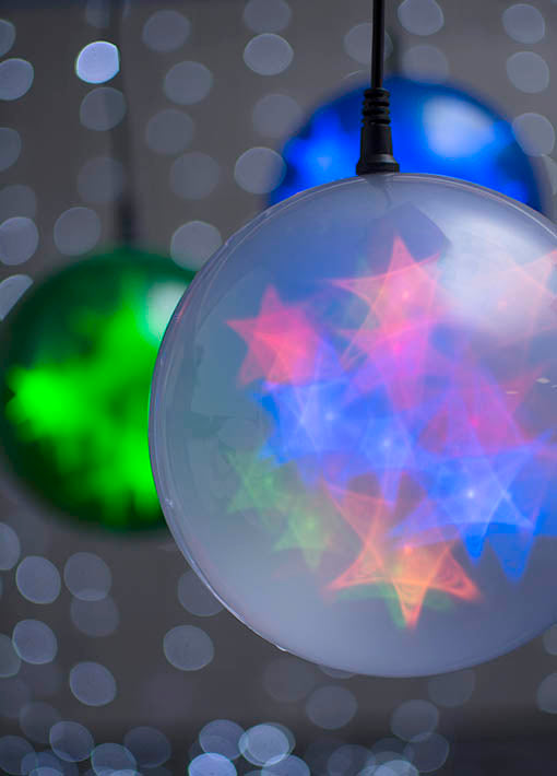 Set our battery-operated starfire LED spheres on a timer to hold steady or twinkle at your designated hour!