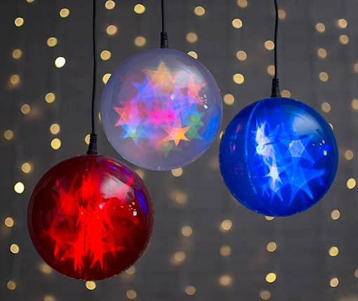 Mix it up for a mesmerizing exhibition of starry lighted orbs!
