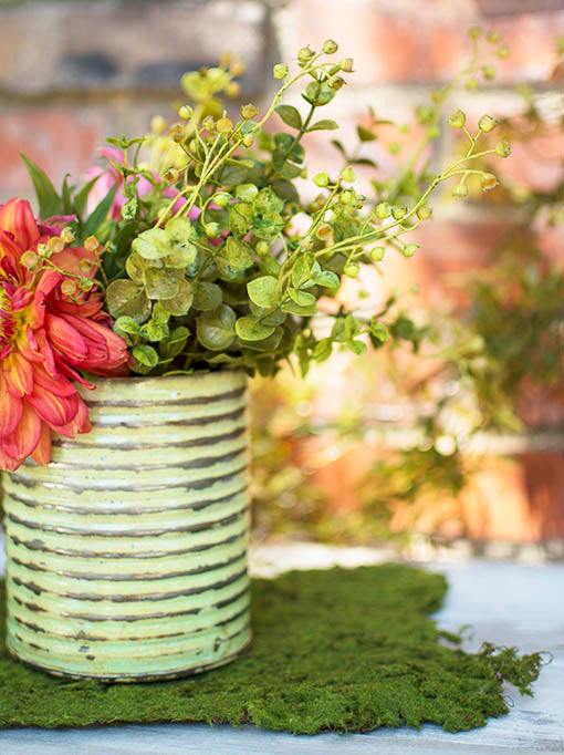 Our faux greenery mixes well with both fresh and silk flowers, rustic tin accessories and decorative mosses, sold separately.
