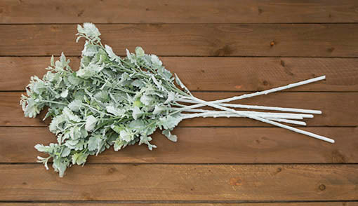 Each set comes with 6 dusty miller sprays with bendable stems, perfect for wrapping around table designs or trimming down to your preferred size.