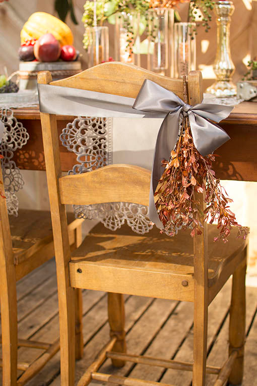Use our coppery sprigs as chair sash adornment, affixed with ribbon or lace.