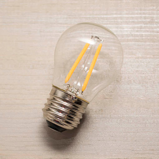 Each LED bulb is cool to the touch and fits perfectly into the weather and UV resistant strand.