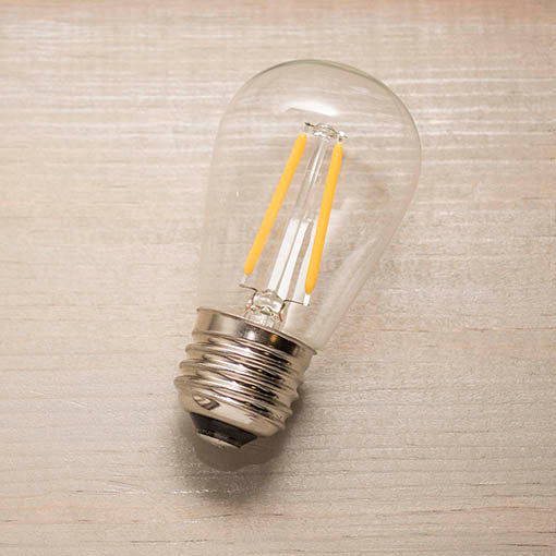 Each LED bulb is cool to the touch and weather and UV resistant within the green wire strand.